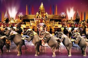 Elephants at Phuket Fantasea Show