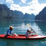 Kayaking on our Khao Sok tour