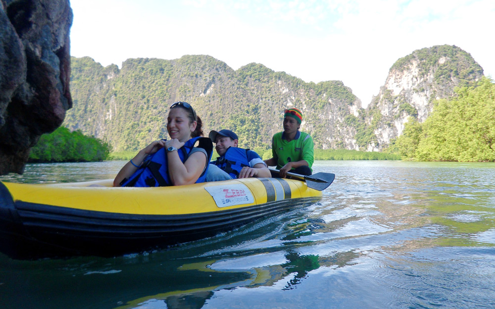 Sea Canoes on Phang nga bay tour thailand