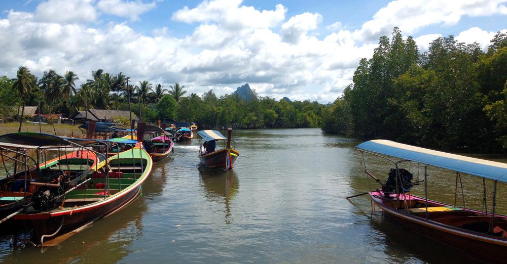 ongtails in phang nga bay