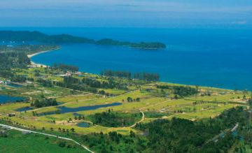 Khao Lak Golf Course next to the sea