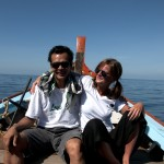 Nai and Madde out fishing from Khao Lak