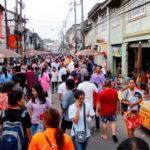 The busy Takuapa street
