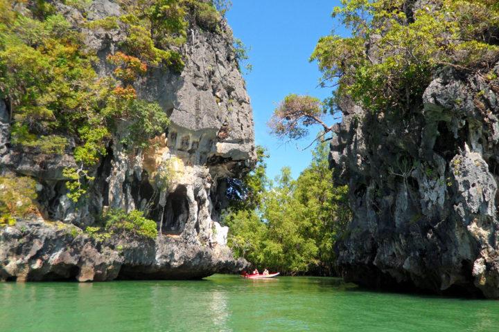 karst limestone cliffs phang nga bay tour thailand